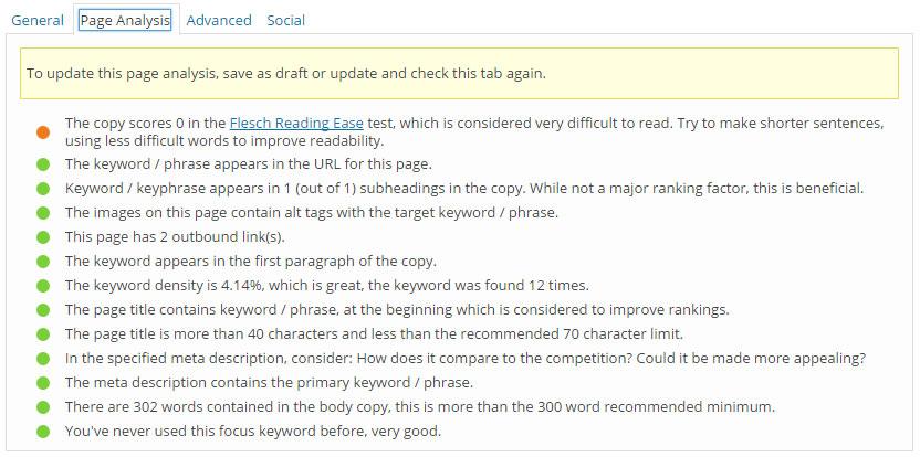 Memahami SEO - screenshot 2 daripada Yoast WordPress Plugin